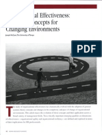 Organizational Effectiveness:
