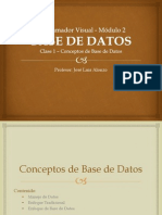 CLASE 1 - BASE de DATOS - Conceptos de Base de Datos