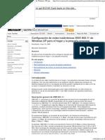 Configuración de redes inalámbricas IEEE 802.11 de Windows XP para el hogar y la pequeña empresa
