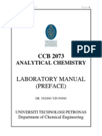CCB 2073_Analytical Chemistry Laboratory Manual Preface_Jan Sem 2014_060214