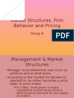 Marketing Structure,Pricing