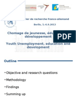 Youth Unemployment and Development
