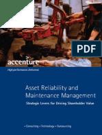 Accenture Asset Reliability Maintenance Management