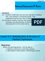 lesson 9 5 multiplication  division of radical expressions