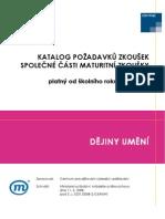 Dejiny_umeni  katalog požadavků k maturitě