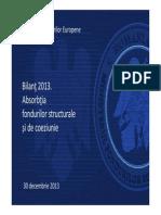 Qp5xt_Bilant 2013 Absorbtia Fondurilor Structurale Si de Coeziune