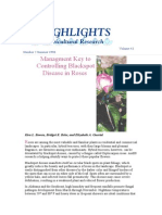 Management Key to Controlling Blackspot in Roses-Volume 43 Number 2 Summer 1996