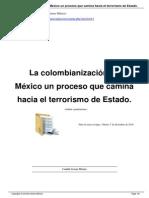 La colombianización en México un proceso que camina hacia el terrorismo de Estado