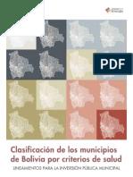 Clasificación de los municipios de Bolivia por criterios de salud