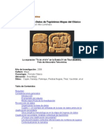 Alexandre Tokovinine- Proyecto Base de Datos de Topónimos Mayas del Clásico