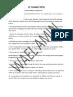Ibt TOEFL Es IBT TOEFL ESSAY TOPICS.pdfsay Topics