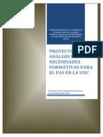 Análisis de necesidades formativas - Proyecto Castelan