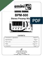 Gemini-BPM500 Preamp (1)