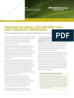 Analyses of Diesel Use for Mine Haul and Transport Operations