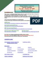Mental Health Bulletin No 225 October 12th 2009