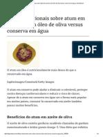 Fatos nutricionais sobre atum em conserva em óleo de oliva versus conserva em água _ eHow Brasil