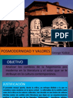 Posmodernidad y Valores
