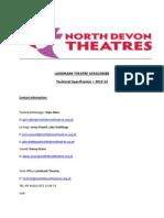 Landmark Theatre Ilfracombe Tech Spec Finala