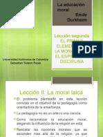 La educación moral - Emile Durkheim (lección II