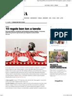 10 Regole Bon Ton a Tavola - Cucina - D - La Repubblica