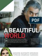 Interview with Roberto Cavalli, Premier magazine