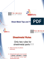 Solidworks-Sheetmetal- Tips and Tricks