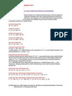 Sepuluh Cara Memfaktorkan Polinomial