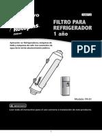 Instructivo Filtro Refrigrador 1 Anio Baja