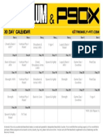 Asylum-P90x Hybrid Calendar