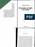 Said, Edward - Teoría ambulante, El mundo, el texto y el crítico