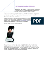Additional Gigaset Phone Handset With Capacitive Touchscreen Display