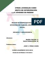 Los centros juveniles como instrumento de intervención con jóvenes en riesgo [rev]