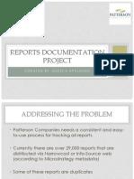 reports documentation  project presentation final