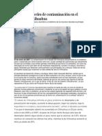 Graves los niveles de contaminación en el Estado de Chihuahua