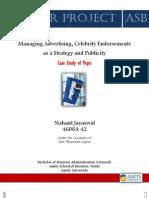 celebrity endorsement- A case study on Pepsi