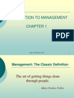 Chapter 1-Intro to Mgt