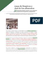 Articulo Sobre Sistemas de Limpieza y Seguridad de Los Alimentos y Uso de Guantes en La Manipulacion de Alimentos.