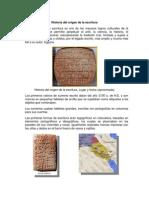 Historia Del Origen de La Escritura