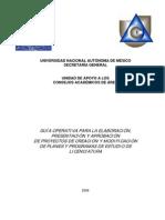 Guia Operativa Planes de Estudio UNAM