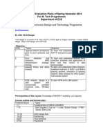 Course Plan Mtech 2014 Spring