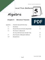 Binomial Theorem (1)