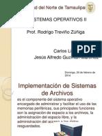 Implementacion de Sistemas de Archivos