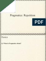 Pragmatics Repetition
