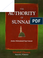 The Authorty of Sunnah Mufti Taqi Usmani (Eng)