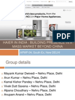 Haier in India Building Presence in a Mass Market Beyond China