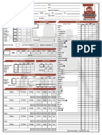 D20 Modern Character Sheet