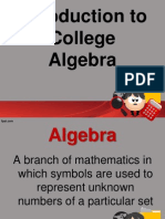Introduction to Algebra