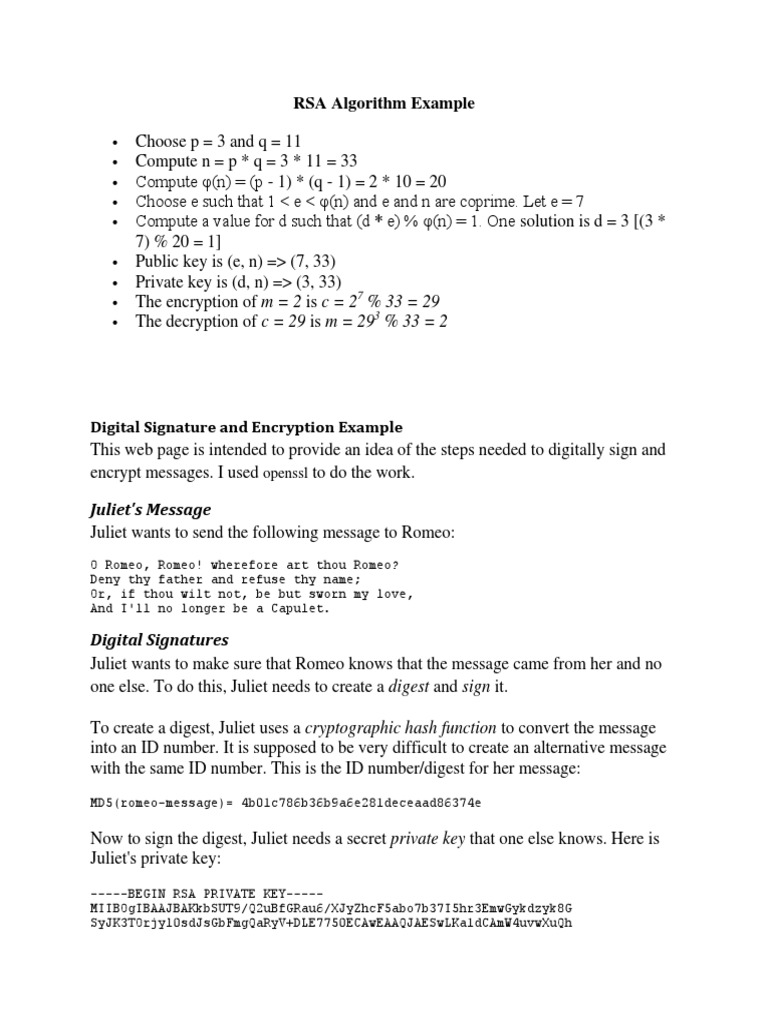 RSA Algorithm Example | Public Key Cryptography | Cybercrime
