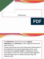 Iridectomy Report