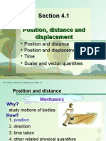Section 4.1 Position, Distance and Displacement